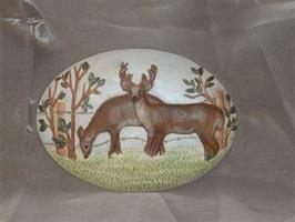 Platta rådjur målad