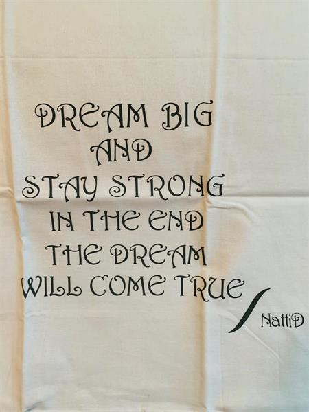 Örngott vitt - Dream big ....
