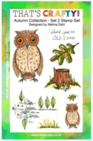 A5 clear stamp set Autumn Collection set 2