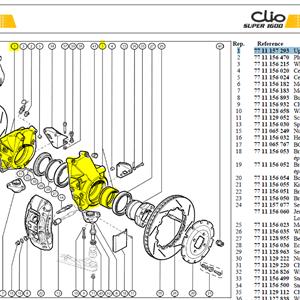 PORTE MOYEU - Clio S1600 upright + spacer