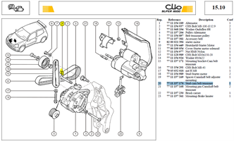 AXE GALET TEND - Stud-cam belt tensioner