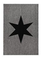 Sandhamn Star Grå/svart 160*230