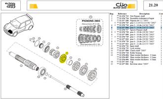 PIGN 3EME 14 DTS SECONDAIRE 14X27 - Gear 3 - 14 dts (14/27)