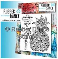 Rubber stamp set Be a Pineapple