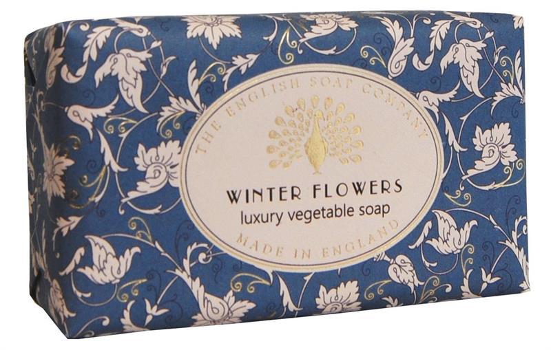 Festive Wrapped Soap Winter Flowers 200gr