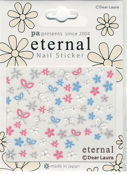 DL- PA Sticker Flowers & Bows Pink & Blue