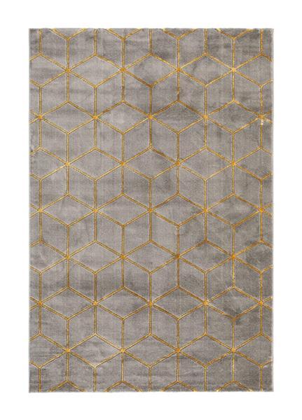 Diamond Cube Antracit/Guld 160*230