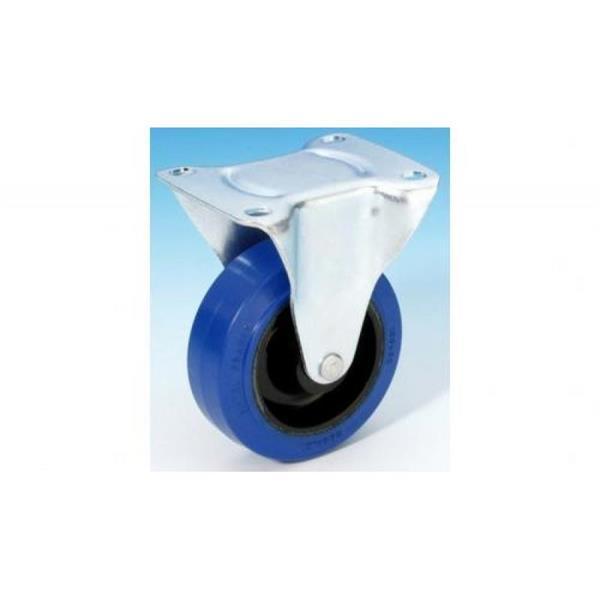 100 mm blå fasta hjul