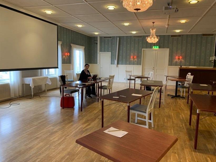 Pia F Davidson/Sverigeförfattarna förbereder sin workshop