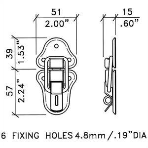 Låsregel m. ögla för hänglås,vintage nickel