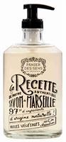 Glass Bottle Marseille Soap Rose 500ml