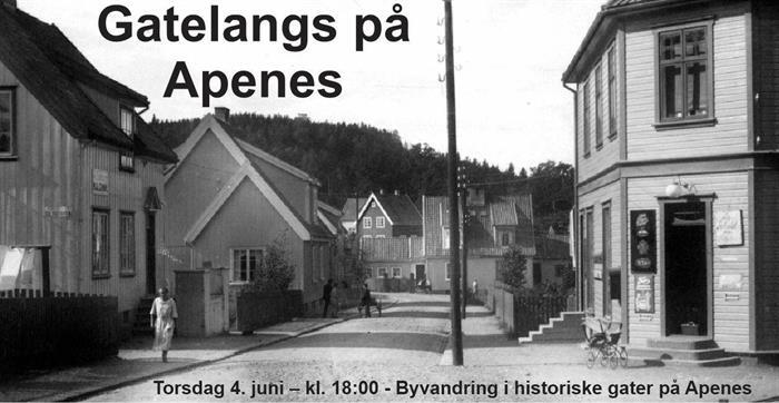 Gatelangs på Apenes - torsdag 4. juni – kl. 18:00