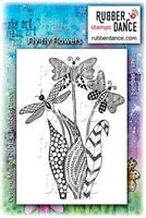 Rubber stamp Fly-fly Flowers