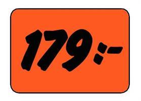 Etikett 179:- 30x20mm