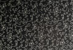 Sort m/ hvitt mønster