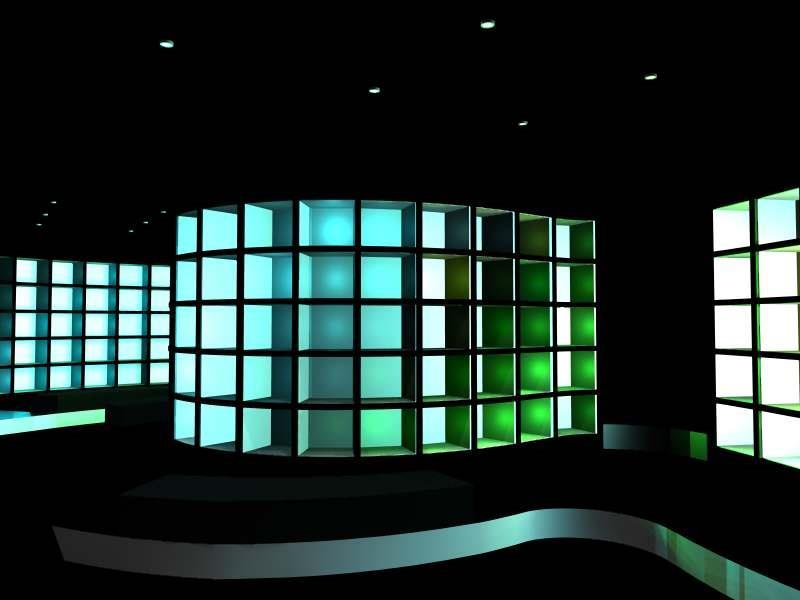 Konsept- og butikkplanlegging - Skobutikk. 3D bilde: Amaline