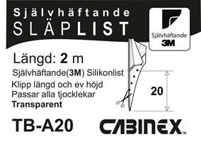 Självhäftande(3M) Silikonlist 20 mm