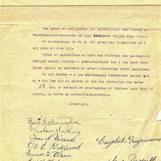 Brevet vitner om de harde økonomiske tidene befolkningen levde under