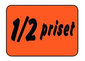 Etikett 1/2 Priset 30x20mm