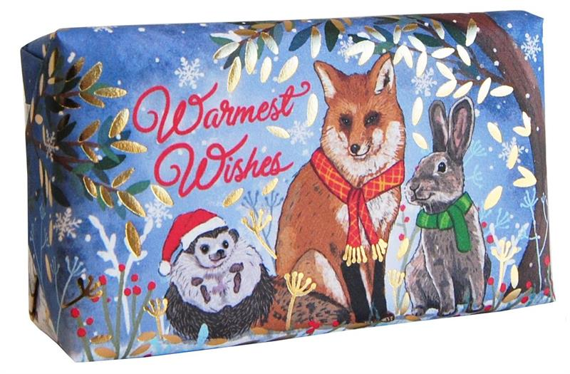 Festive Wrapped Soap Warmest Wishes  (Mulled Wine) 190gr