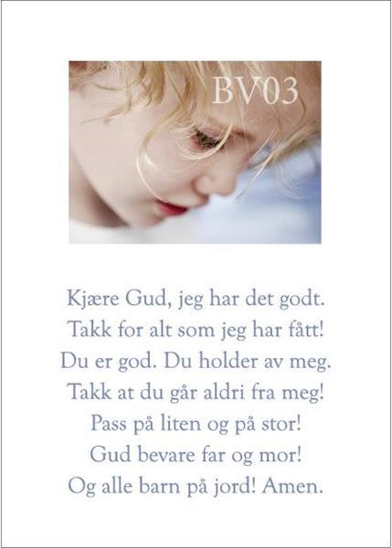 BV-Kort: Kjære Gud jeg har det godt