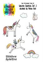 A5 Clear stamp set Unicorn Sparkles set 2