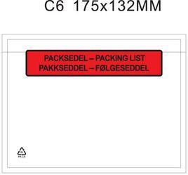 """Packsedelskuvert C6 """"PACKSEDEL"""""""