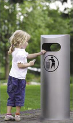Avfallssug i park