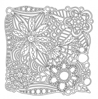 Mask 6x6 inches Flower galore