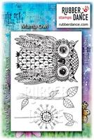 Rubber stamp set Mama Owl