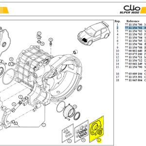 KIT REVISION BV - Rebuilt set Clio S1600