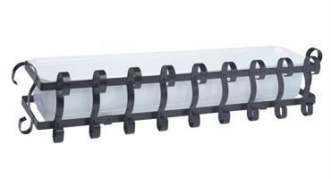 Balkonglåda komplett svart 80cm