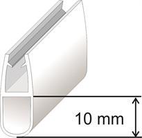 U-list för 8mm glas 10mm Svart
