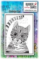 Rubber stamp Curious cat