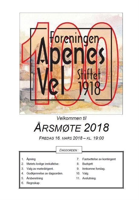 Program for Årsmøte 2018