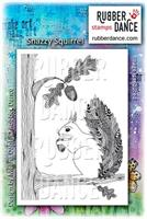 Rubber stamp Snazzy Squirrel