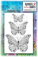 Rubber stamp set Butterfly Trio
