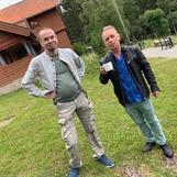 Kollegan Micael Lindberg och Kingen