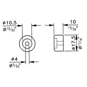 Gummifot 18x10mm