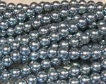 Vaxade glaspärlor ljusgrå
