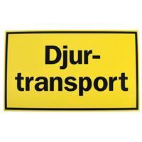 Skylt Djurtransport Liggande 30x50cm