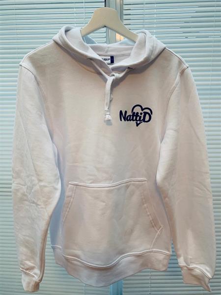 Vit hoodie - stl 130/140