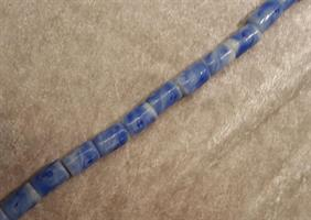 Blåmelerad glaspärla