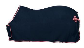 Täcke Fleece Med Frontplatta Navy 115