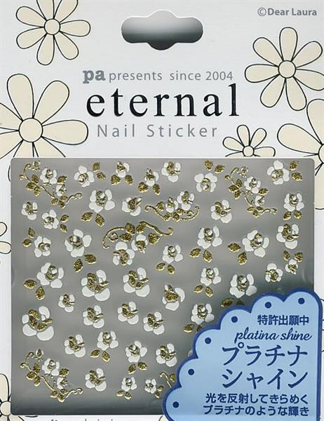 DL- Sticker Flower white & gold rose