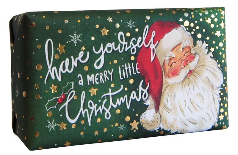 Festive Wrapped Soap Santa 190gr
