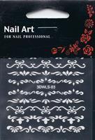 NA- Sticker Ornament white