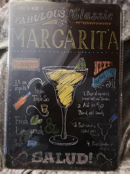 Margarita cocktails, peltitaulu
