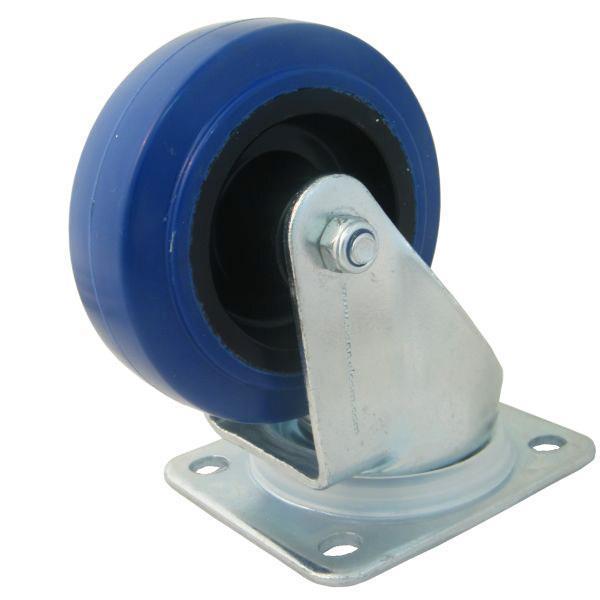 80 mm blå länkhjul