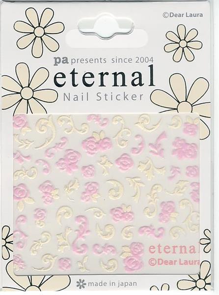 DL- Sticker Flower pink & ornament